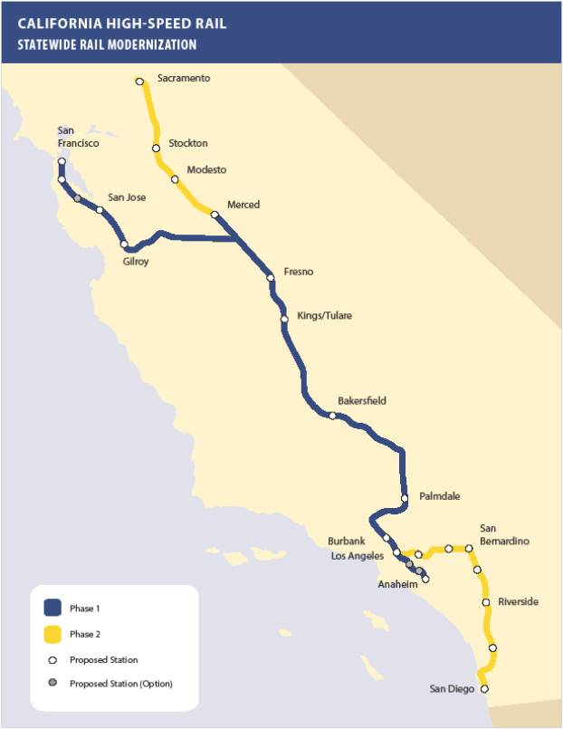 california high speed rail map