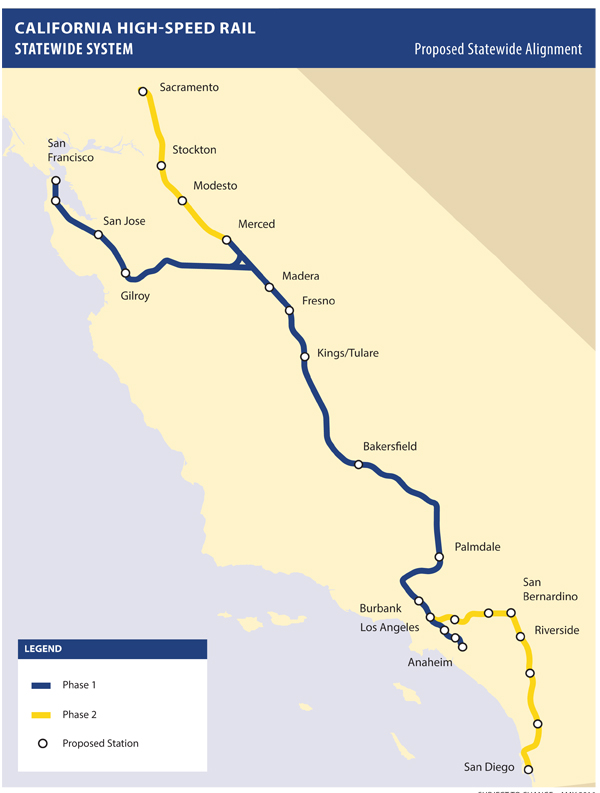 California High Speed Trail Statewide System