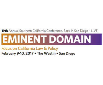 19th Annual Southern California Conference on Eminent Domain from CLE International